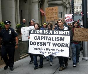 communism signs at occupy wall street 