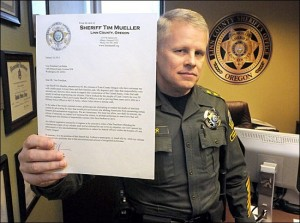 Oregon Sheriff Tim Mueller won't violate your rights